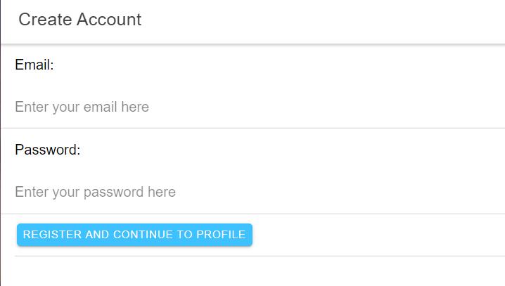 Step 2 - Account Creation